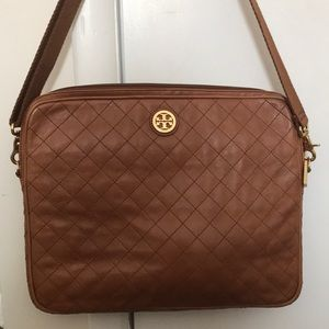 Tory Burch Leather Computer Bag